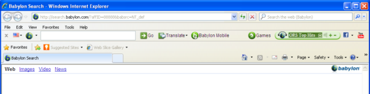 babylon toolbar in internet explorer 8