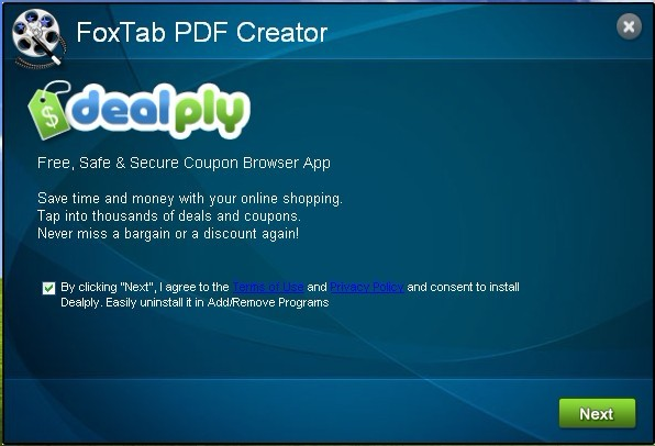 uninstall Dealply in order to make your computer clean from infections