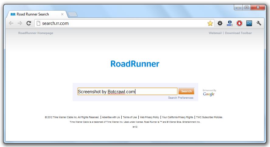 uninstall Road Runner Toolbar