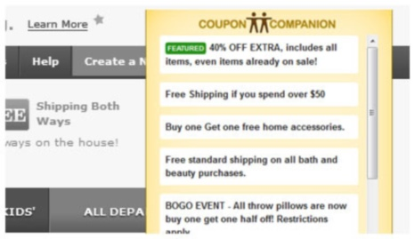 coupon companion ads