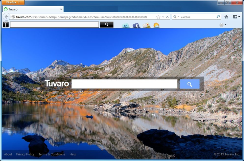 tuvaro toolbar and search