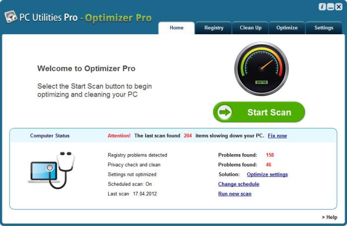 PC Utilities Pro - PC Optimizer Pro