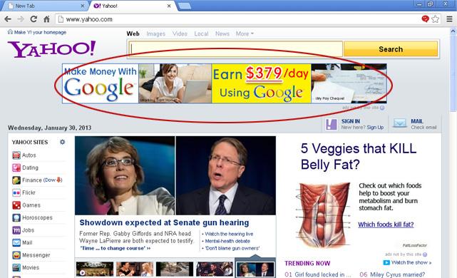 Advertenties niet door deze site