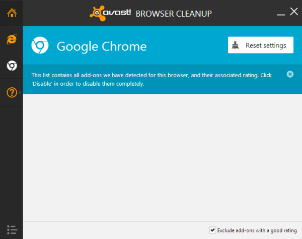 avast browser cleanup google chrome