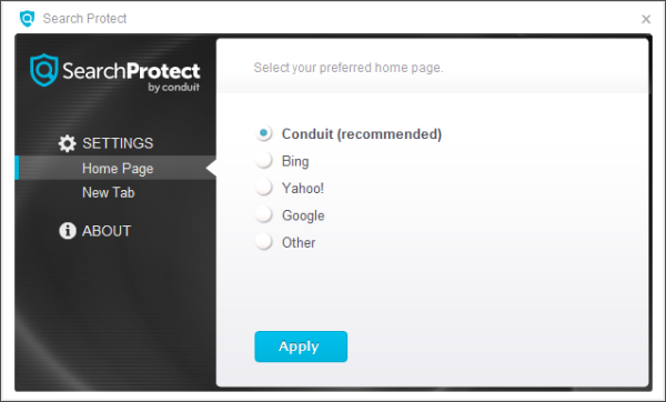 uninstall Search Protect by Conduit