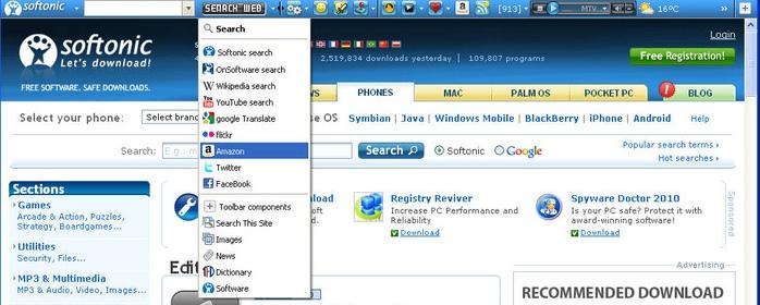 softonic toolbar