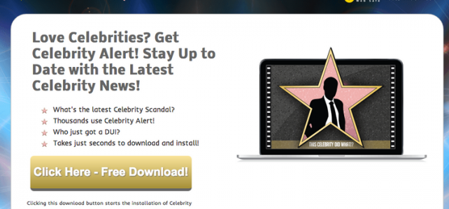 How to uninstall (remove) Celebrity Alert