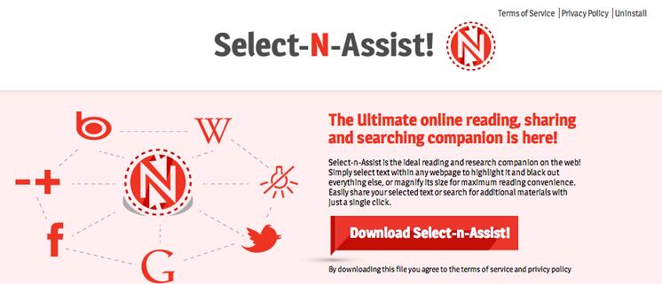 Select-n-Assist ads