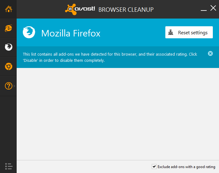 avast browser cleanup firefox