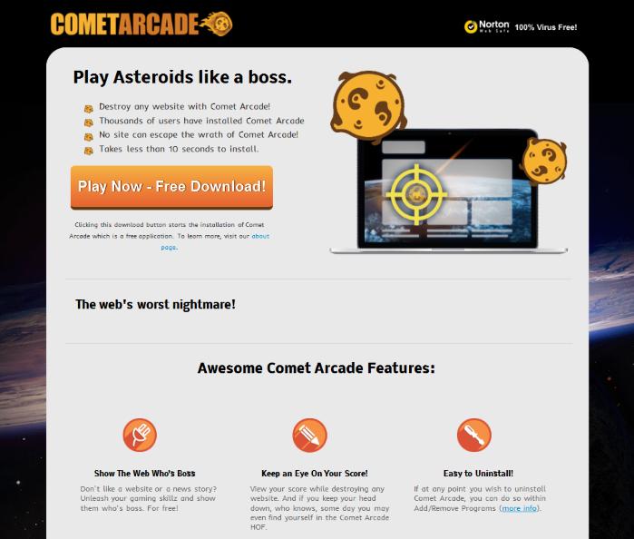 remove Comet Arcade
