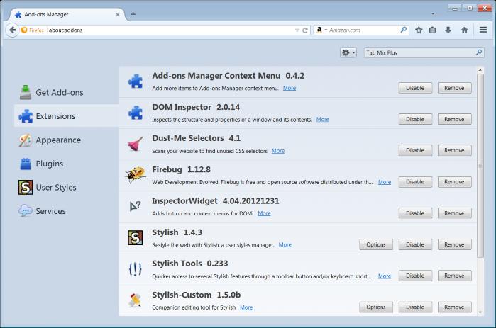 Mozilla Firefox udvidelser