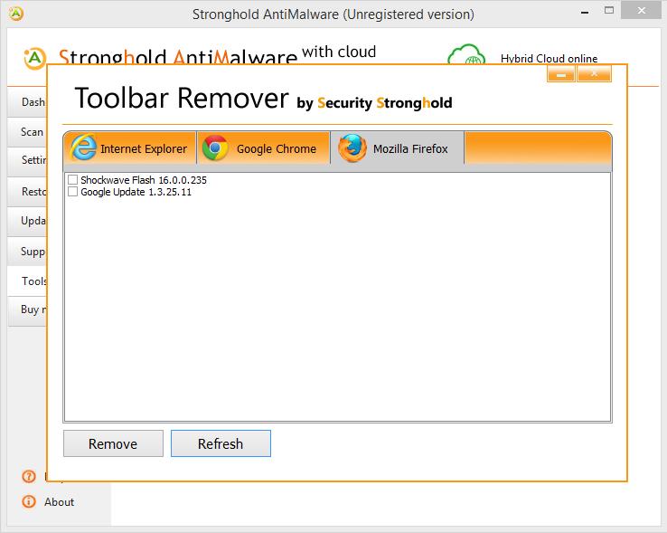 høyborg verktøylinjen remover Mozilla Firefox