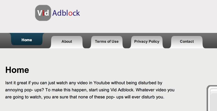 Ads by Vid Adblock