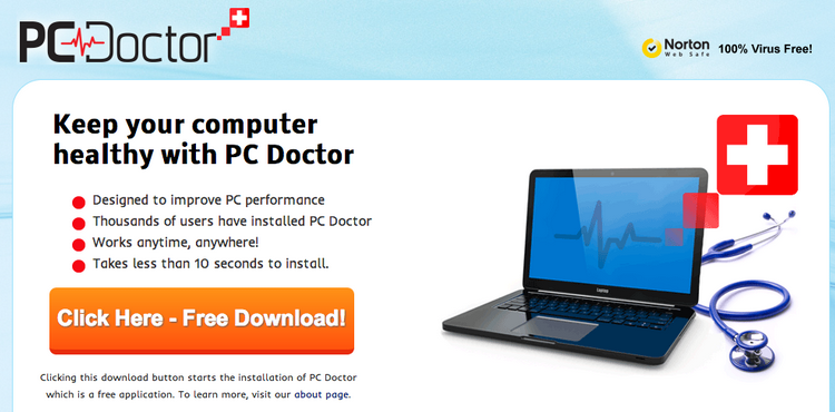 PC Doctor Ads