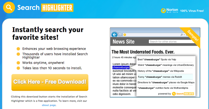 Search Highlighter Ads