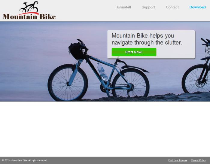 ads by mountain bike
