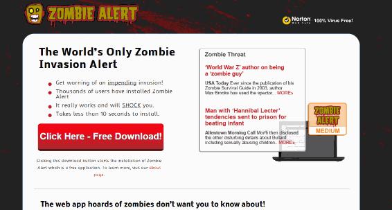 Zombie Alert Ads