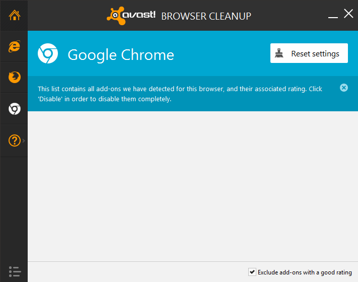 avast browser cleanup to remove chrome extensions