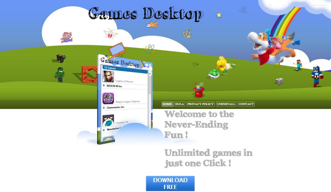 Games Desktop ads