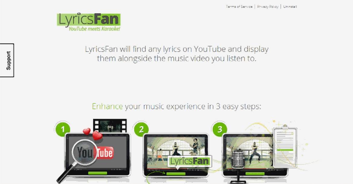 LyricsFan ads