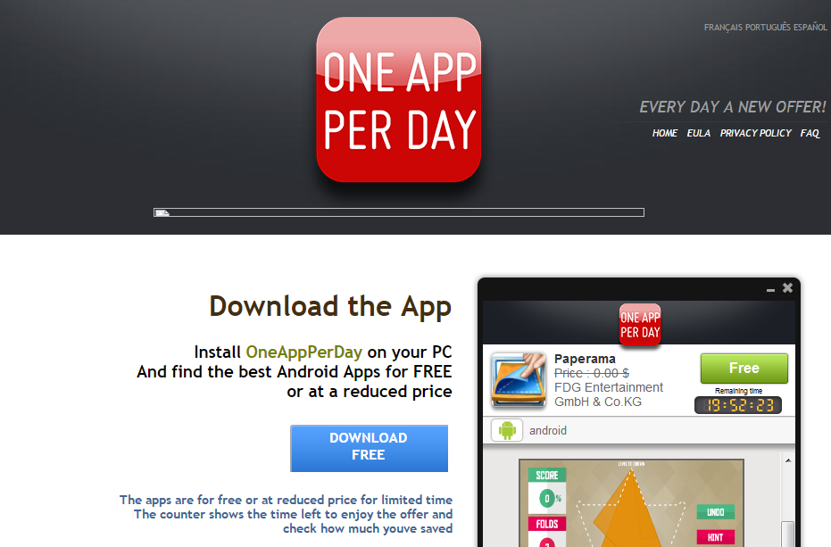 OneAppPerDay Ads