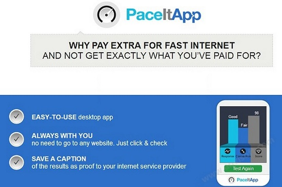 PaceItApp ads