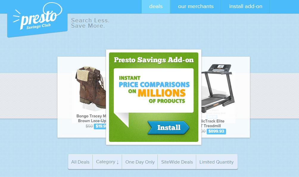 Presto Savings Ads
