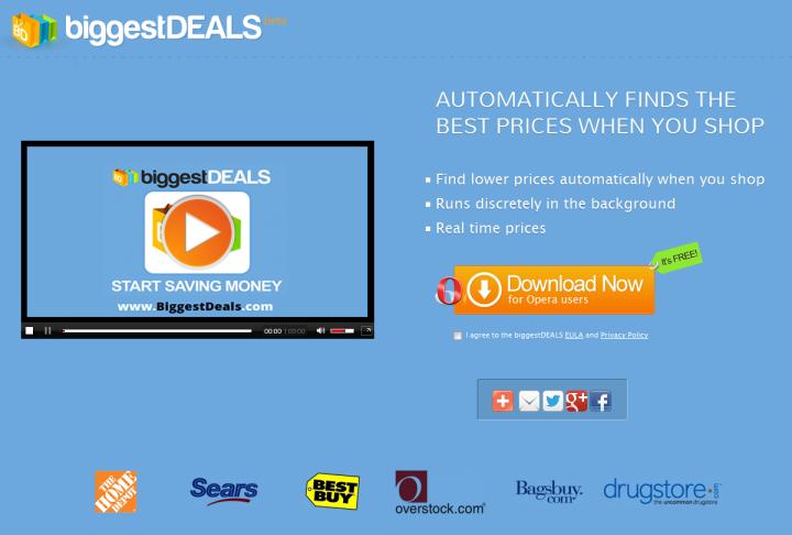 BiggestDeals Shopping Buddy Ads