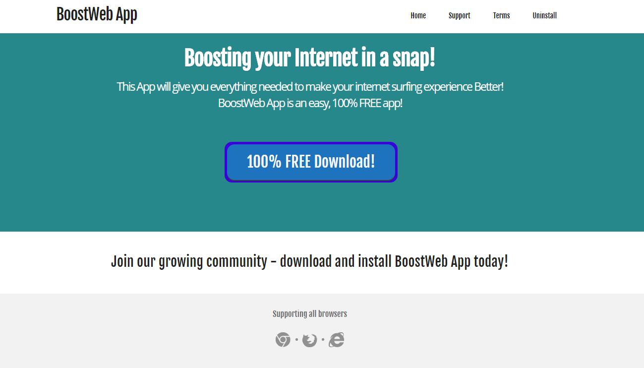 BoostWeb App Ads