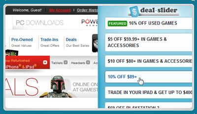 Deal Slider ads