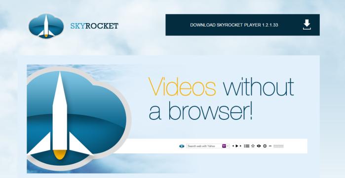 SkyRocket Player ads