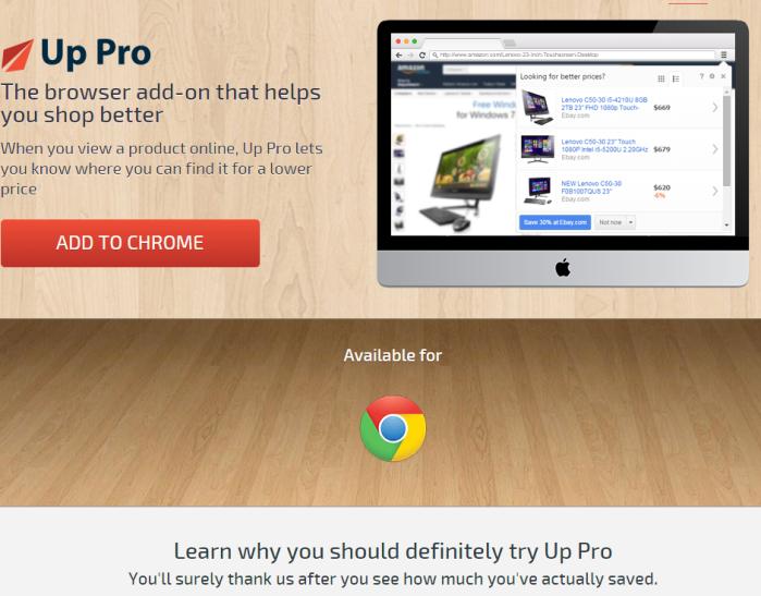 Up Pro ads