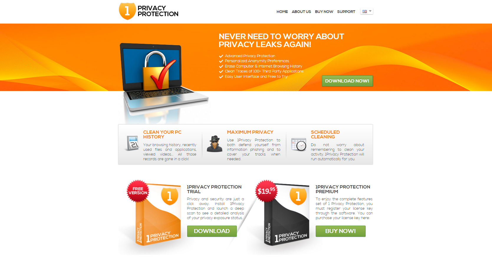 1 Privacy Protection ads