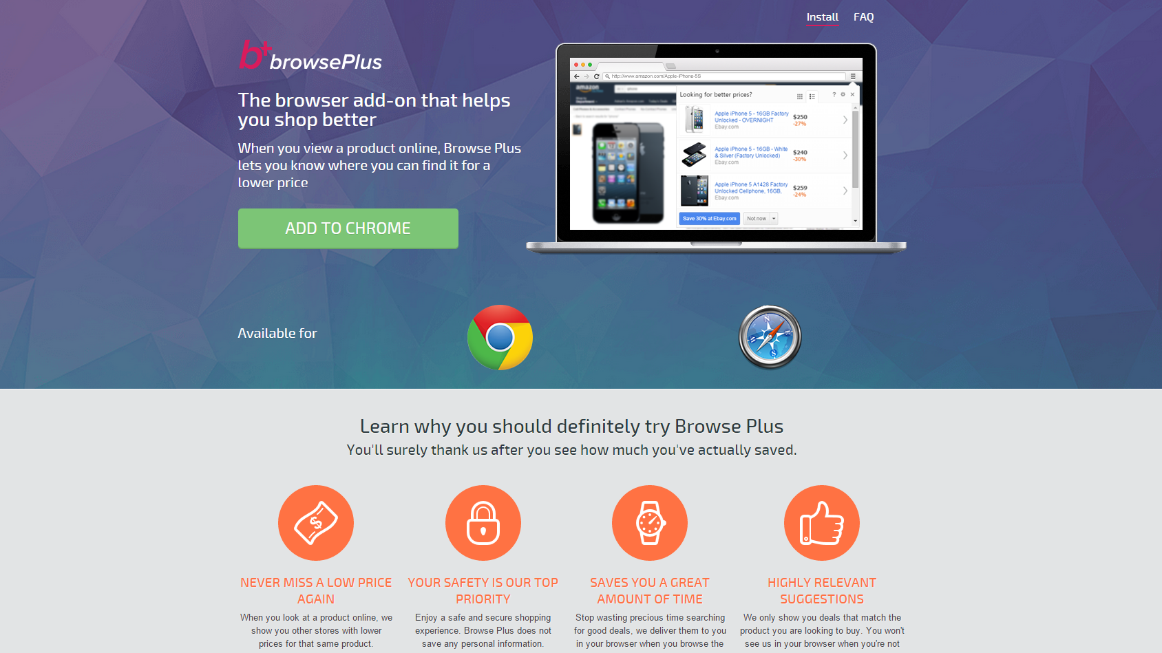 Browser Plus ads