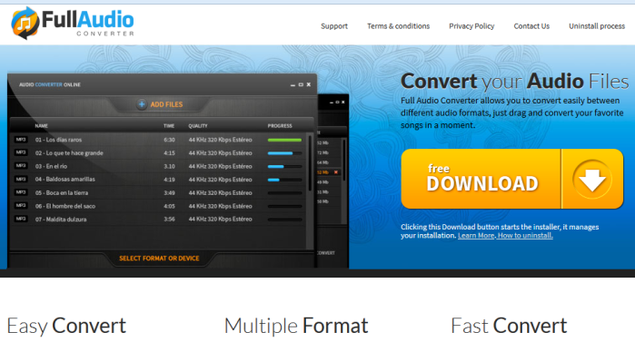 Full Audio Converter ads