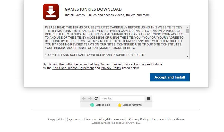 Games Junkies ads