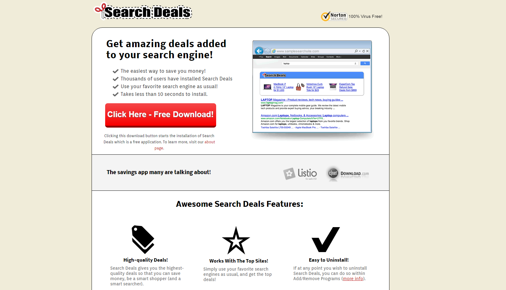 Search Deals ads