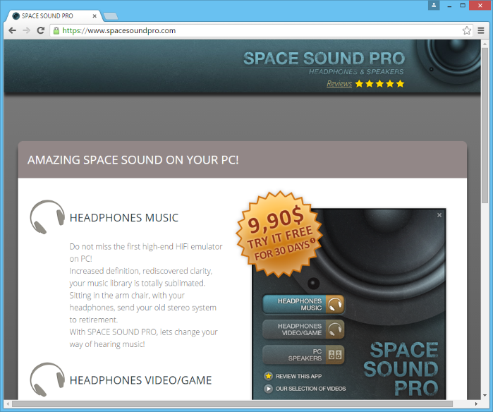 SpaceSoundPro ads