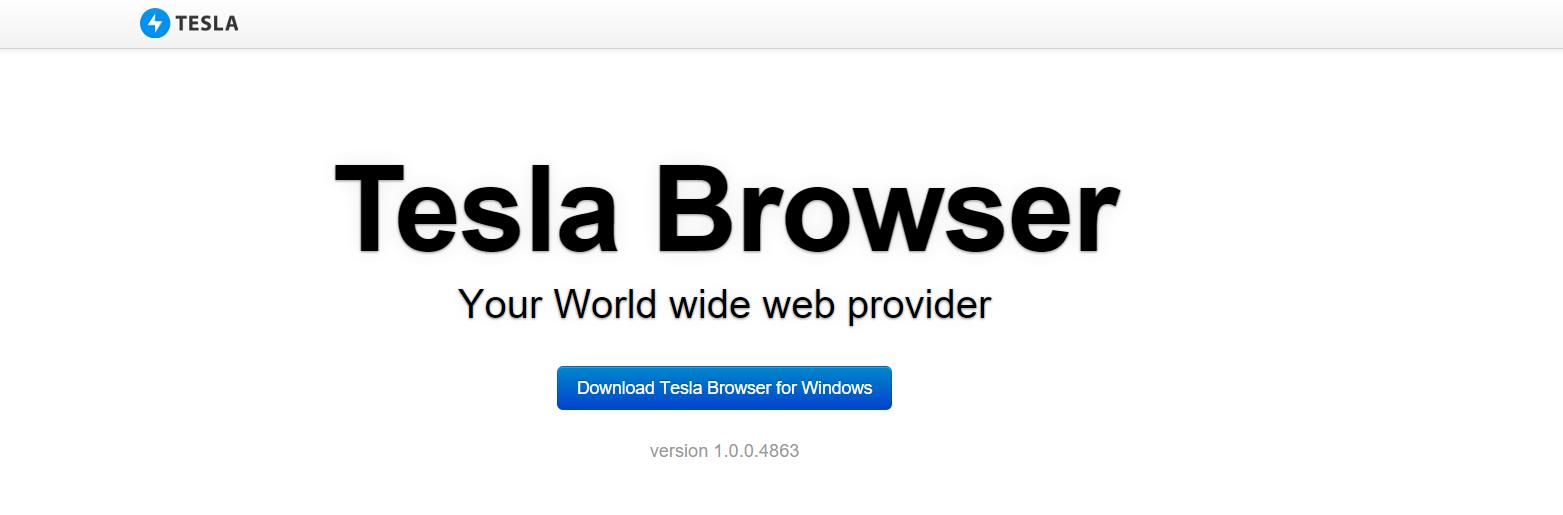 Tesla Browser ads