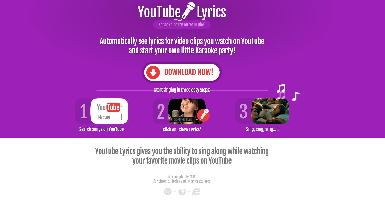 YouTube Lyrics ads