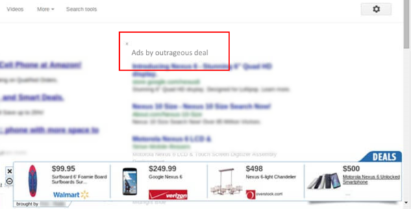 Outrageous Deal ads