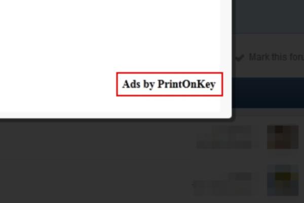 PrintOnKey ads