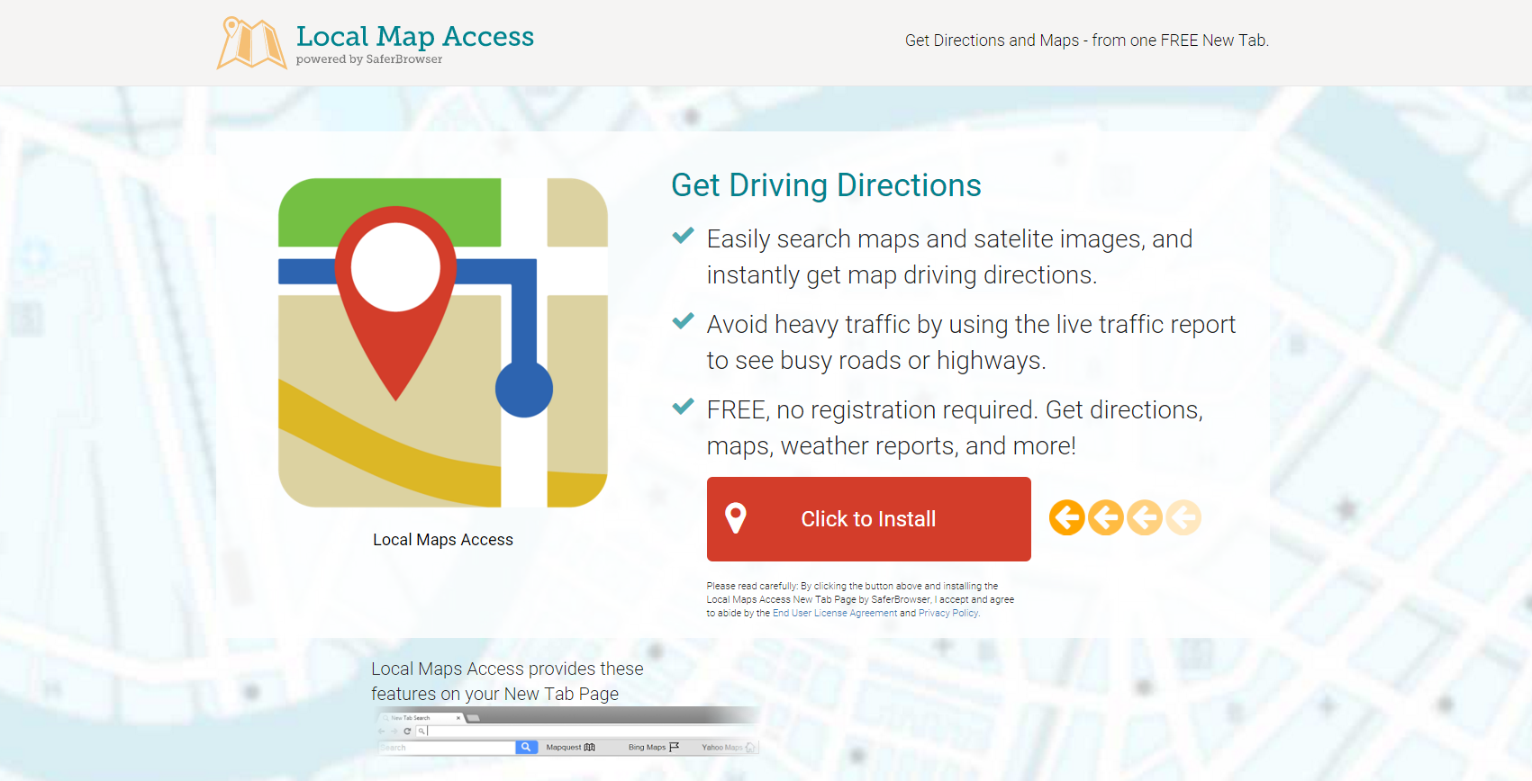 ads by Local Maps Access