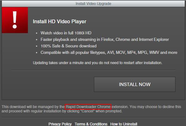 rapid downloader ads