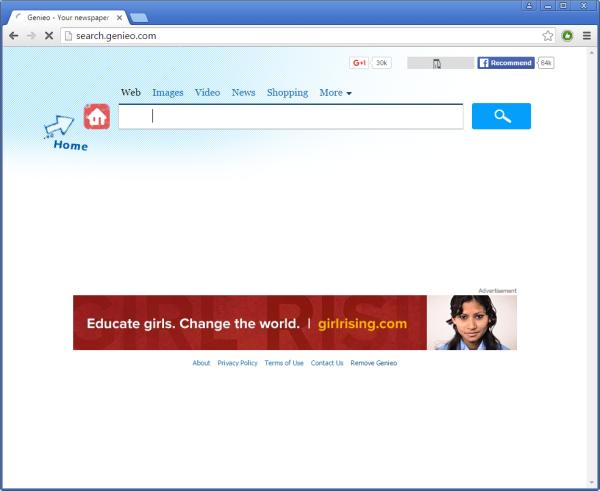 Search.genieo.com ads