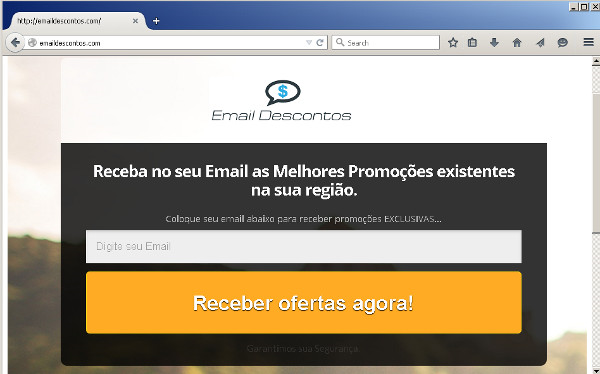 Email Descontos