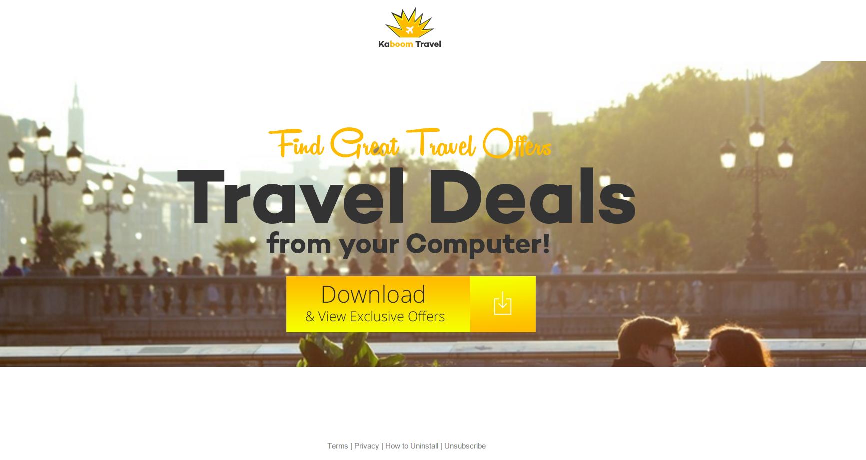 Kaboom Travel Deals Ads