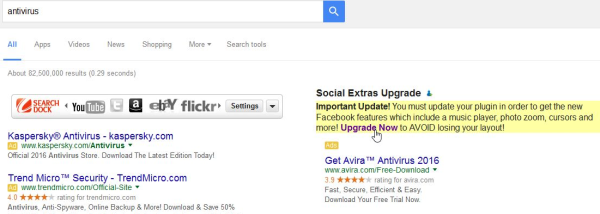 My Search Dock ads