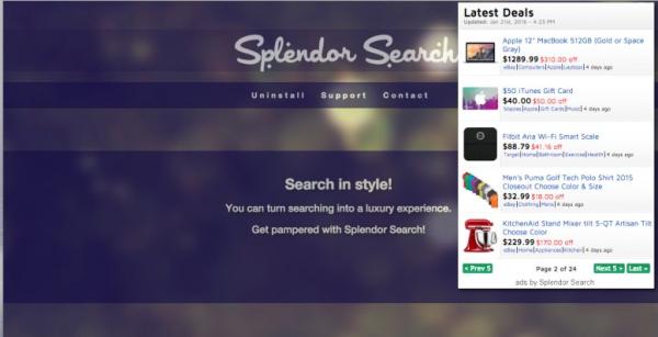 Splendor Search ads