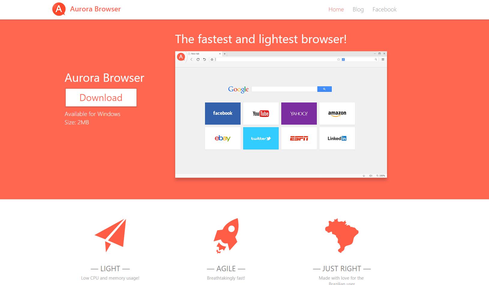 Aurora Browser Ads